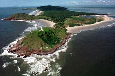Visual aéreo da Ilha
